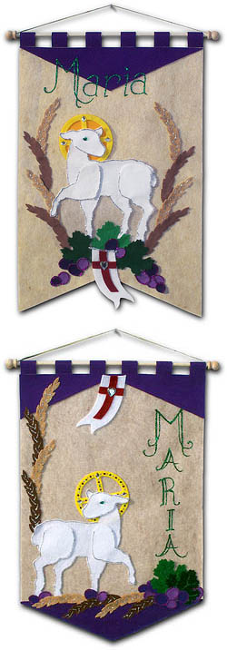 ~ DELUXE ~ - First Communion Banner Kit - Class Pack - 12 in. x 18 in. - <i>Lamb of God</i>