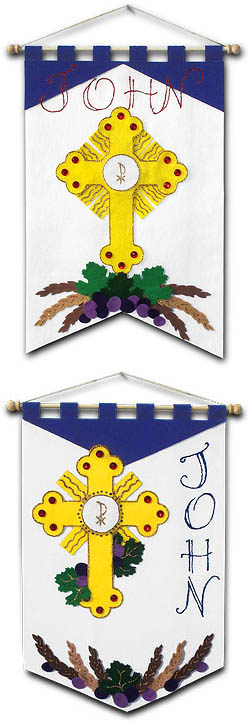 ~ DELUXE ~ - First Communion Banner Kit - Class Pack - 12 in. x 18 in. - <i>Adoration</i>
