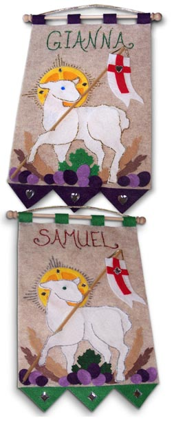 First Communion Banner Kit - Class Pack - 9 in. x 12 in. - <i>Lamb of God</i>