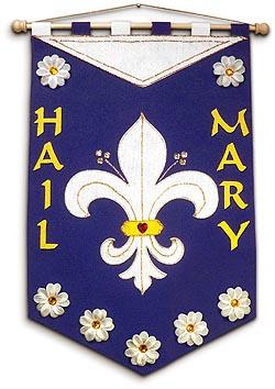 Marian Banner Kit - Fleur de Lys