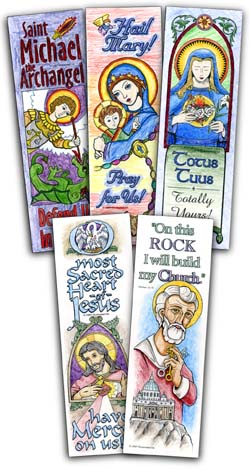 Catholic Bookmarks - Large