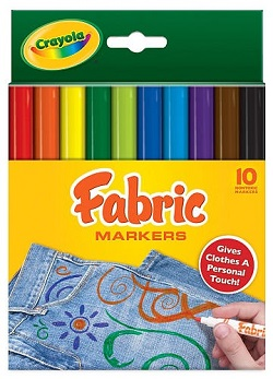 Crayola Primary Fabric Markers