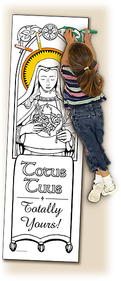 Catholic Coloring Posters - Deluxe - Totus Tuus