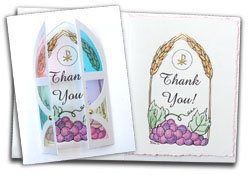 First Communion Card Kit Thank You's - 5 pack