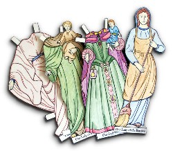 Precious Mary Paper Doll