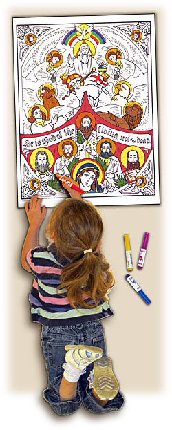 Sacred Seasons Coloring Poster - All Saints