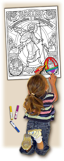 Sacred Seasons Coloring Poster - Easter