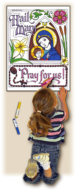 Sacred Seasons Coloring Poster - Hail Mary