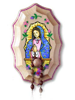 Wooden Rosary Holder Kit - Our Lady of Guadalupe