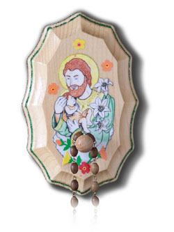 Wooden Rosary Holder Kit - St Joseph