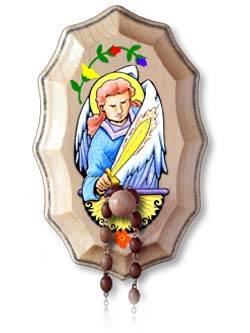 Wooden Rosary Holder Kit - St Michael the Archangel